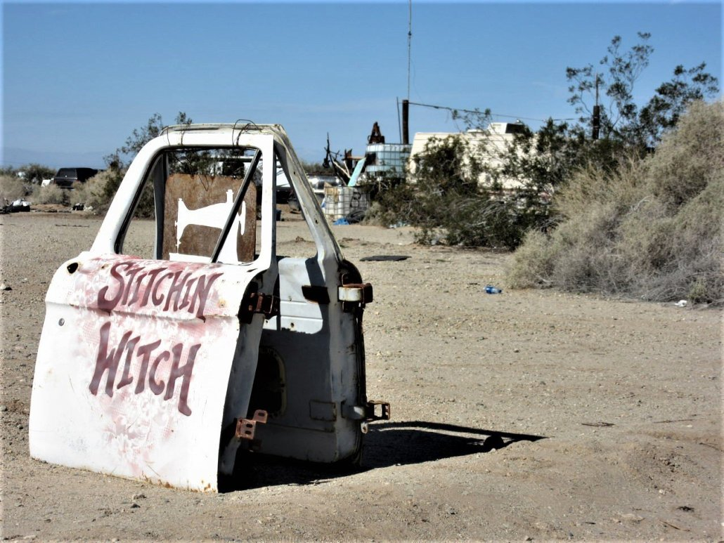 Stitchin' Witch Slab City CA