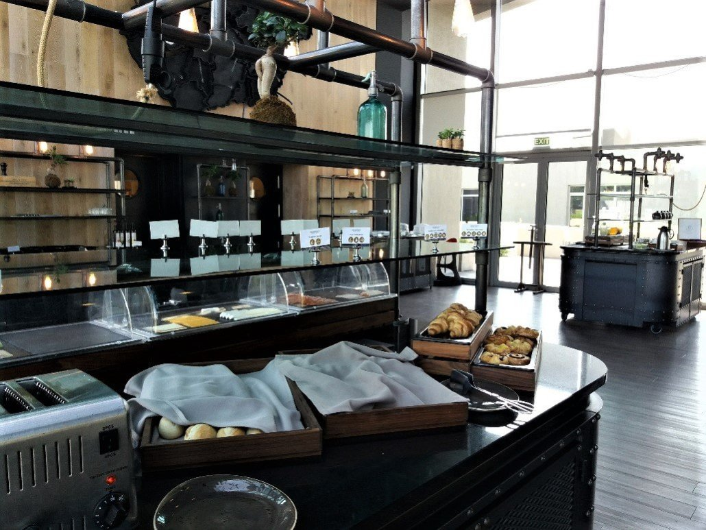Breakfast buffet Kreinbacher estate Somló wine region Hungary