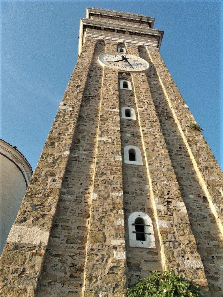 Belltower at St George's church in Piran