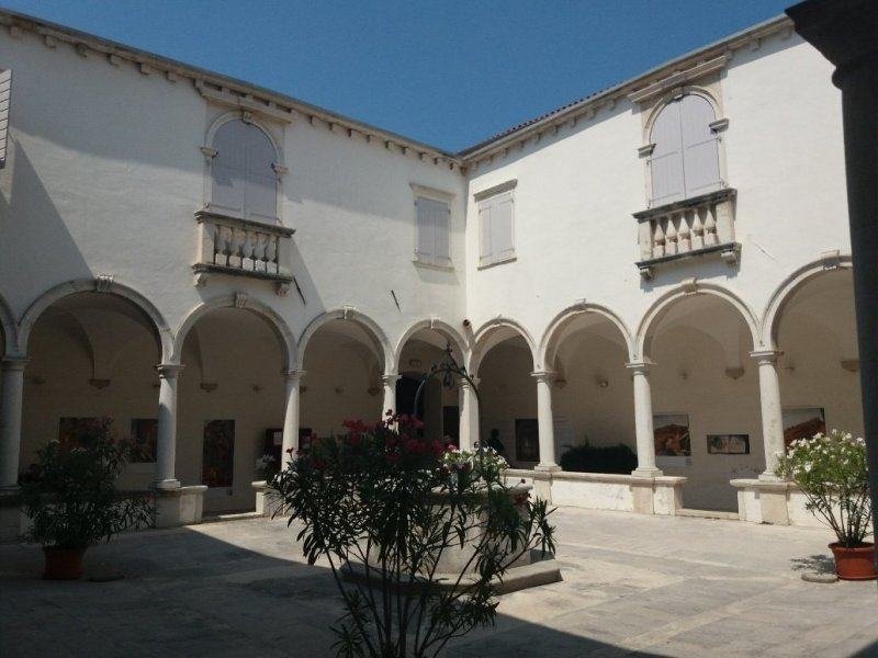 Monastery cloister in Piran