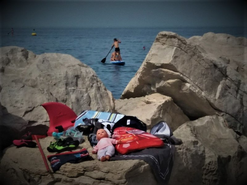 Paddleboarding in Piran
