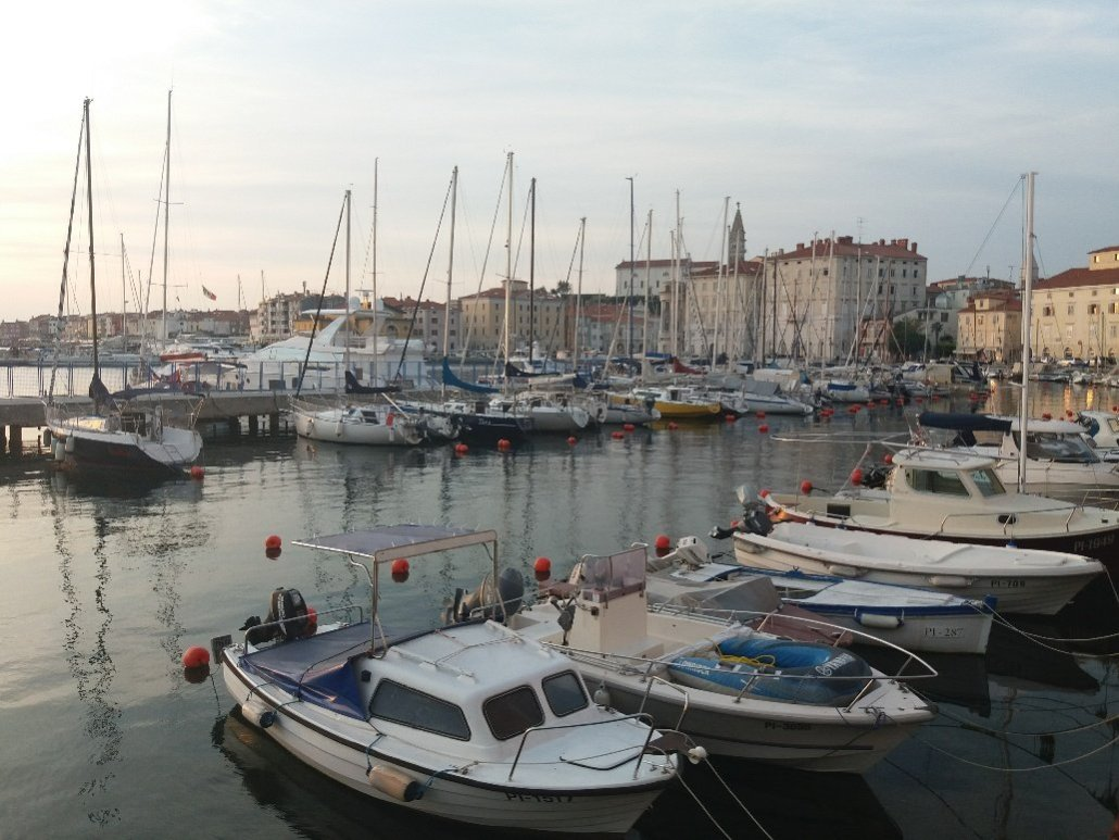 Boats at Piran by the harbour