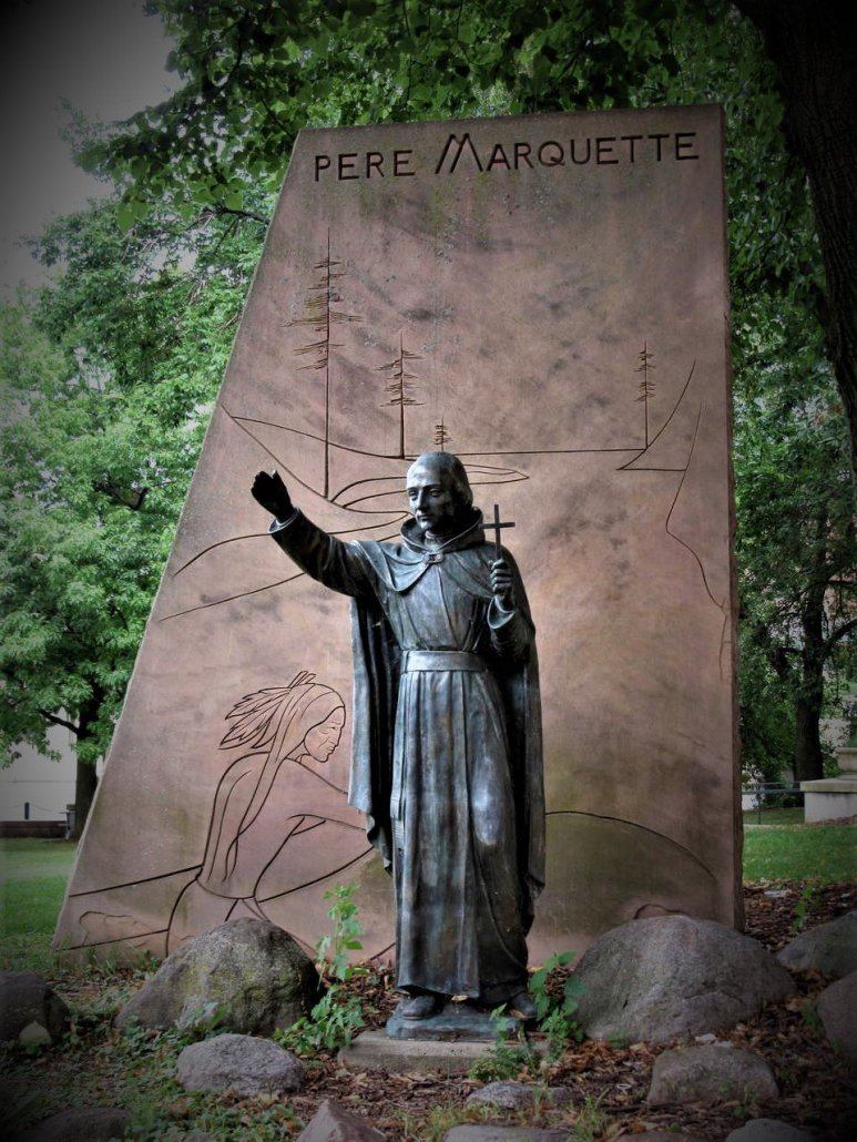 Statue of Pere Marquette in Milwaukee