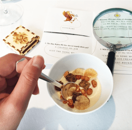 2b) Why Do I Have to Choose Between A Variety Pack And A Cooked Breakfast?: Truffled Egg Mousse, Jellied Tomato Consommé, Bacon And Toasted Bread Cream, Cereals