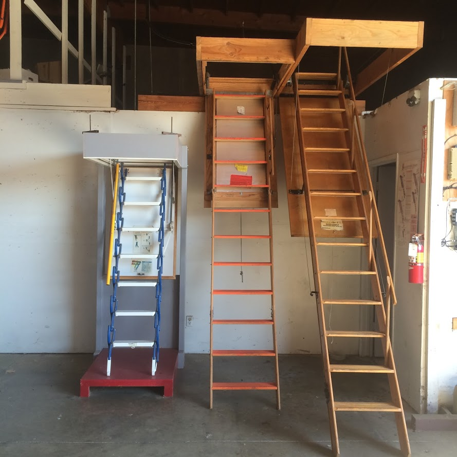 Fire Rated Attic Ladders Industrial Ladder And Scaffolding Inc