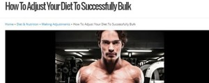 "Click to read ""How To Adjust Your Diet To Successfully Bulk""."