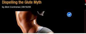 "Click to read ""Dispelling the Glute Myth""."