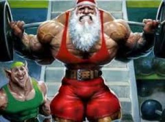 Santa be swole.