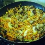 Овощи тушеные с мясом