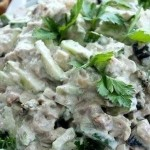 Сытный и легкий салат