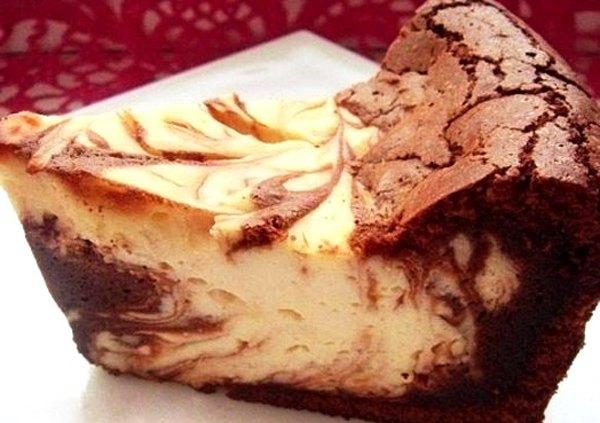 Творожно шоколадная запеканка Мраморная3