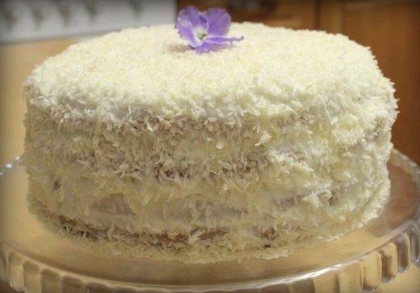 Торт Вишня в снегу6