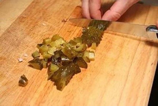 Салат из кальмаров с грибами6