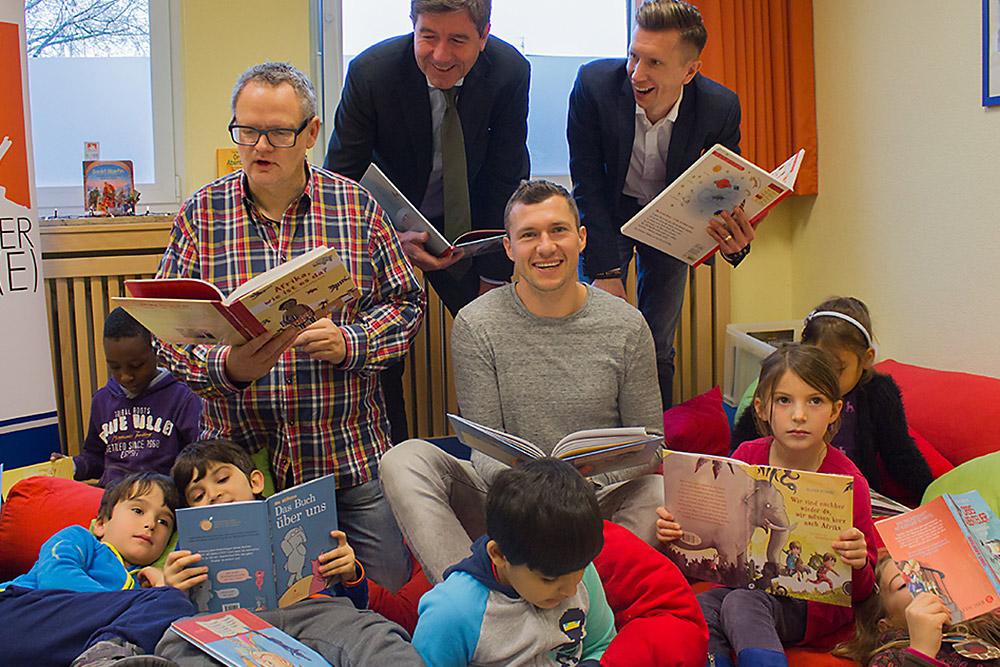anyMOTION beim Düsseldorfer Lesefest; mit Ulli Potofski, Oliver Fink, Mathias Kossmann