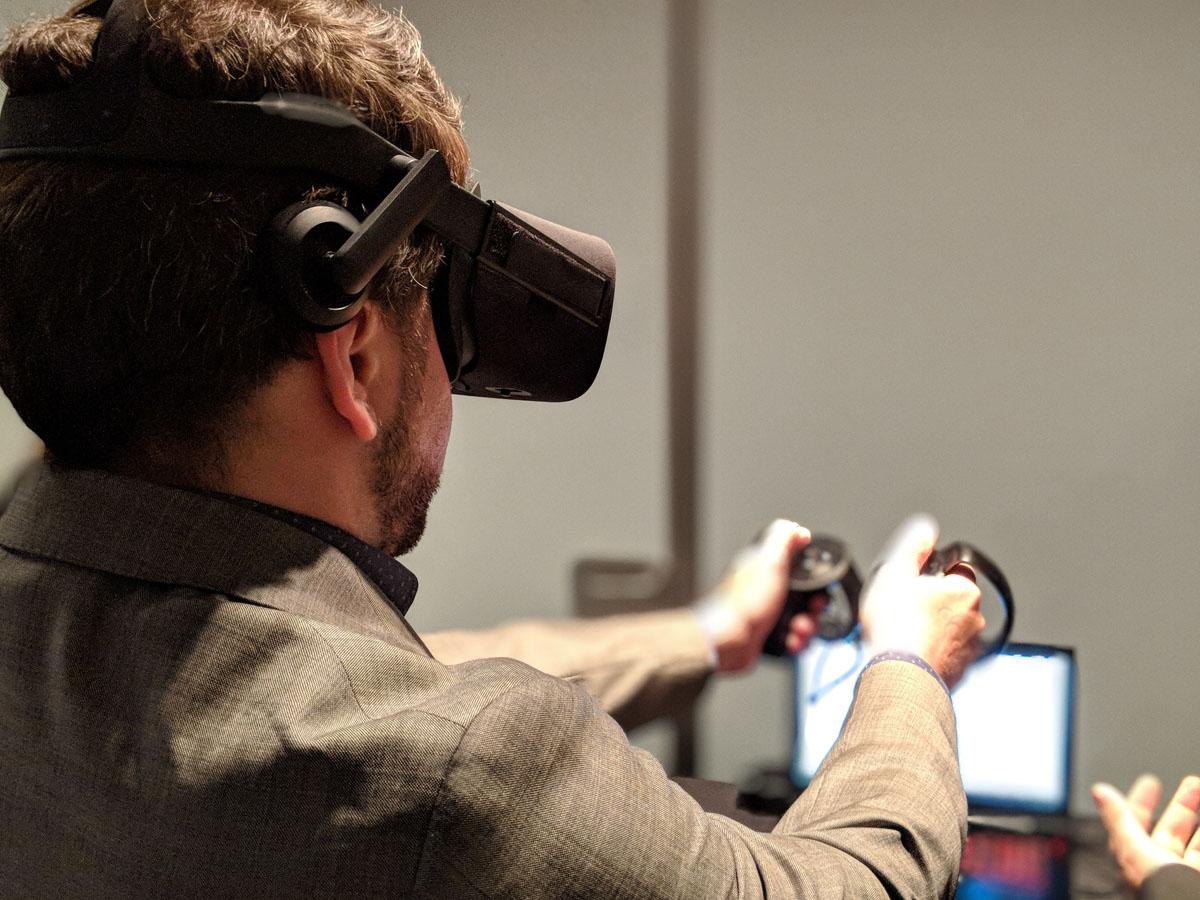 anyMOTION DIGITAL MEETUP Auch die Wirecard VR Shopping Experience konnte getestet werden