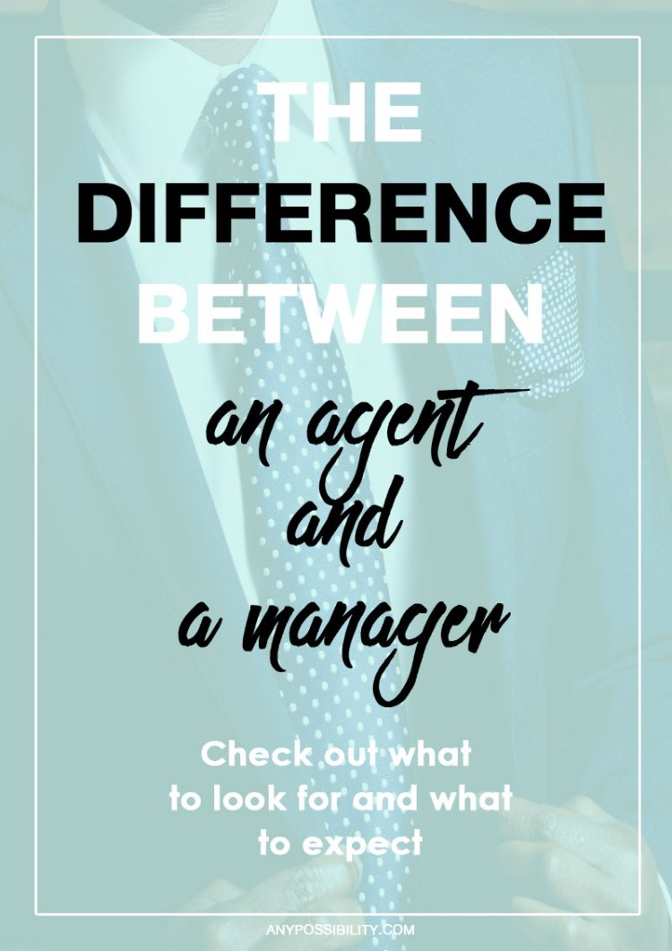Understanding your representation as a screenwriter is important. Check out the difference between an agent and a manager.