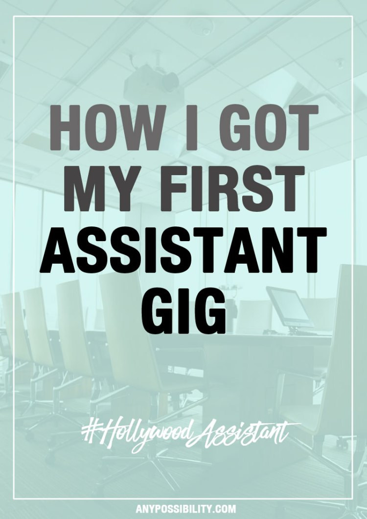 "Check out how I got my first job as an entertainment industry assistant. Working in Hollywood isn't easy, but it's also not always easy to find a job, or even the ""right"" job if you are an aspiring screenwriter."