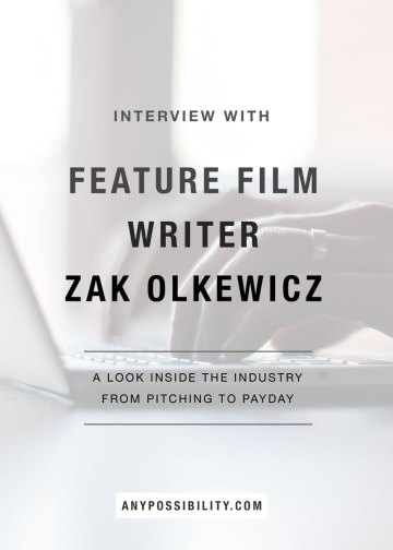 Interview with feature film writer Zak Olkewicz
