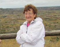 Mom in North Dakota, Sept. 2010