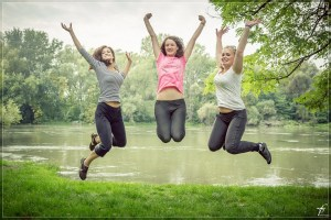 joy, jumping, happy, girls
