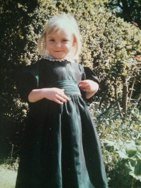 In my birthday dress