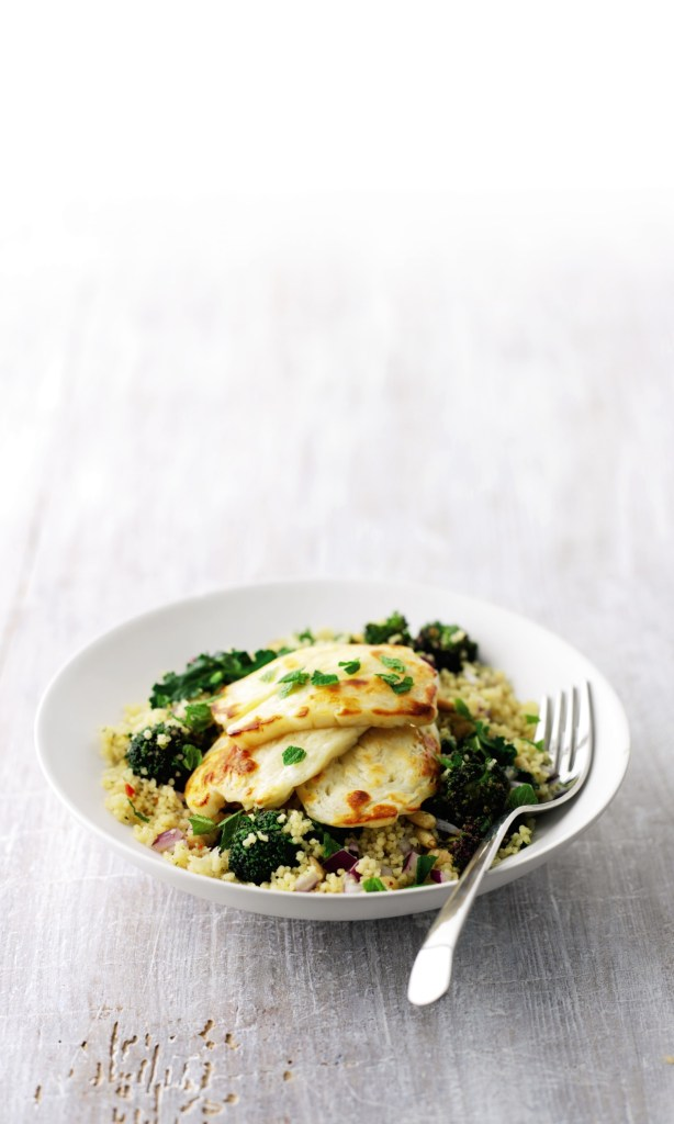 Warm Couscous Salad with Halloumi