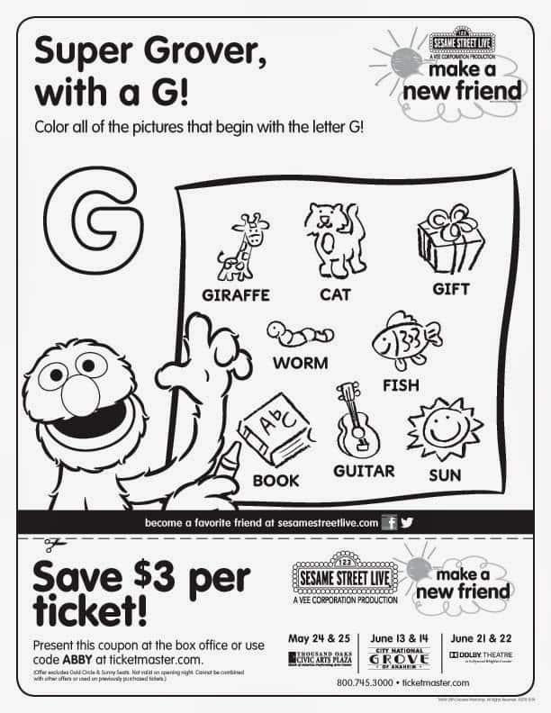 Sesame Street Live Groupon Discount + Free Sesame Street