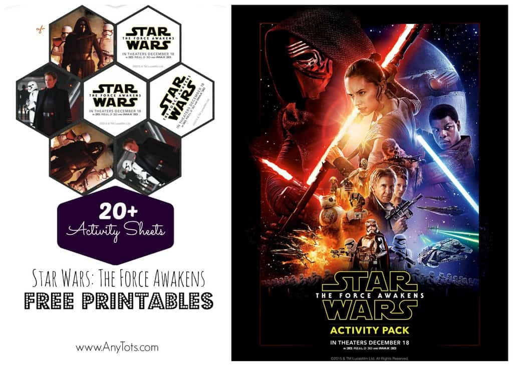 FREE Star Wars Printables 20 Star Wars Activity Sheets