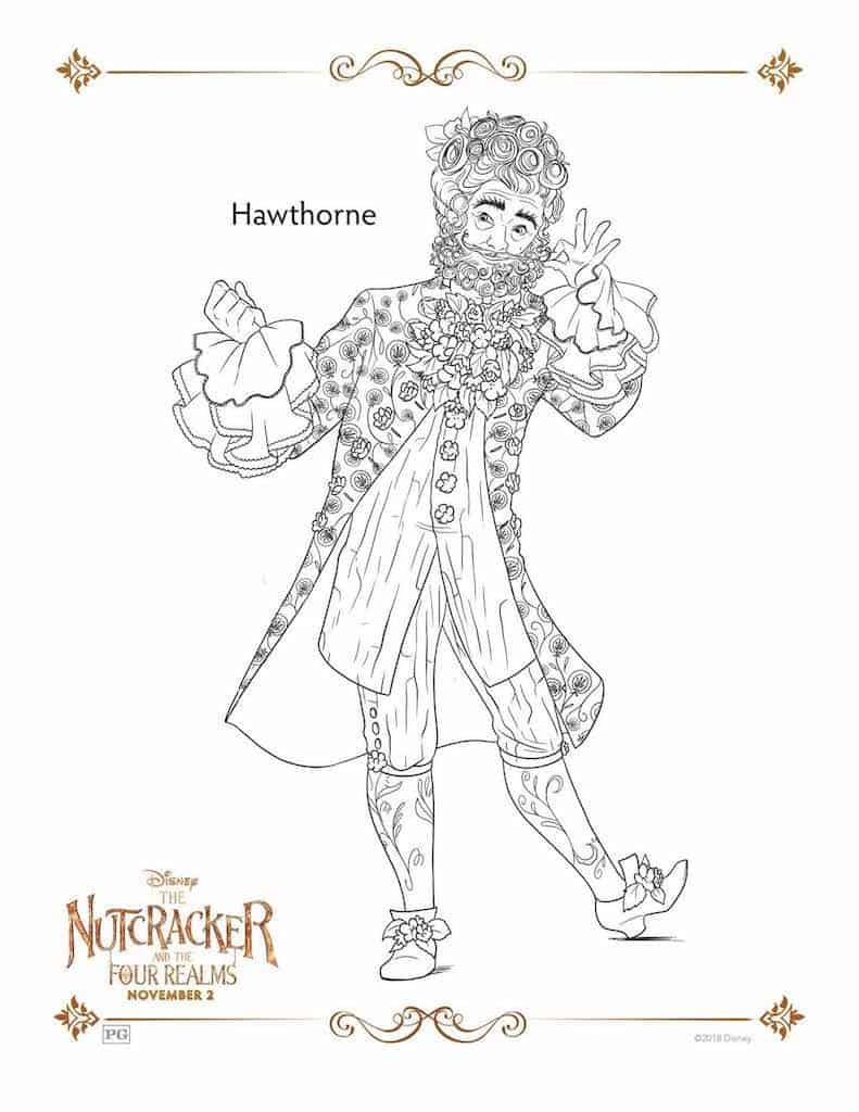 The Nutcracker and the Four Realms Free Printable Coloring