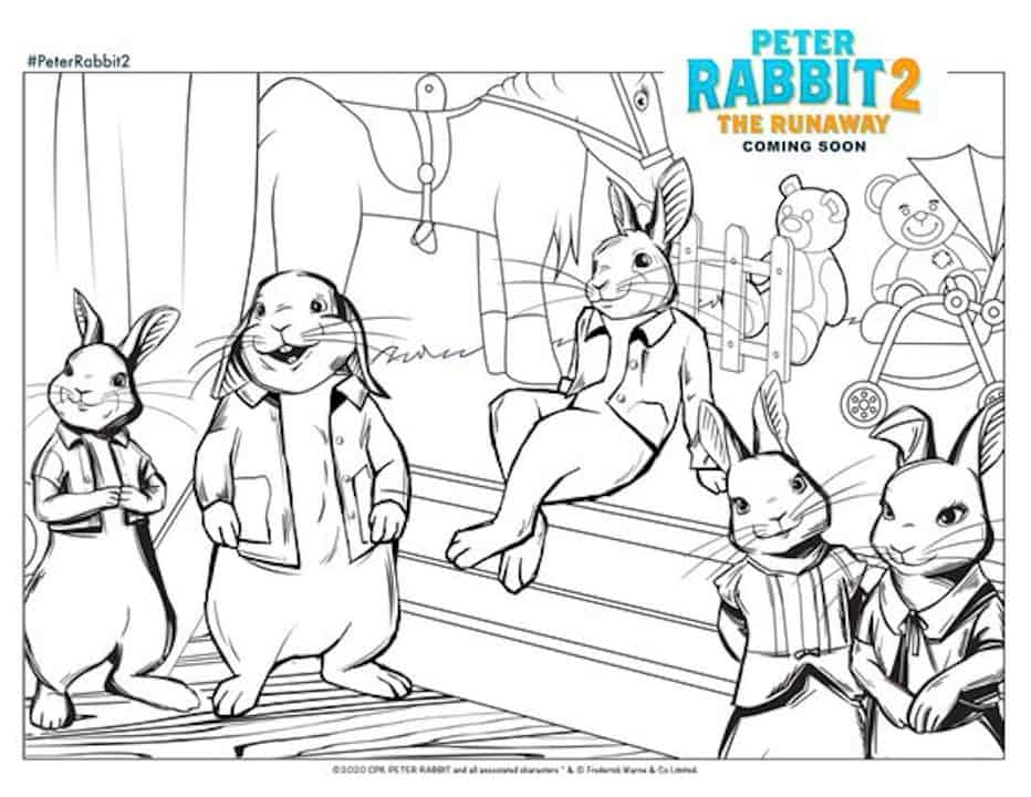 Free Printable Peter Rabbit 2 Easter Coloring Pages