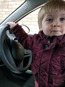 Just driving the car Mumma