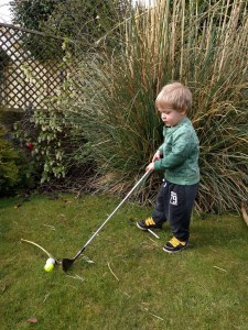 Playing golf is just one way to rock toddlerhood
