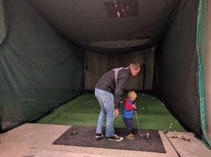 Daddy & son golf time at The Milky Way