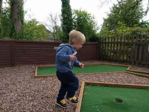 Mini Golf excitement at Devon Railway Centre