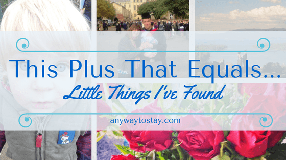 This Plus That Equals…. Little Things I've Found