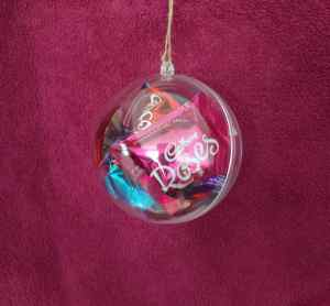 Chocolates inside a bauble