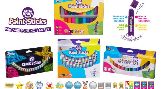 Win A Selection of Little Brian Paint Sticks