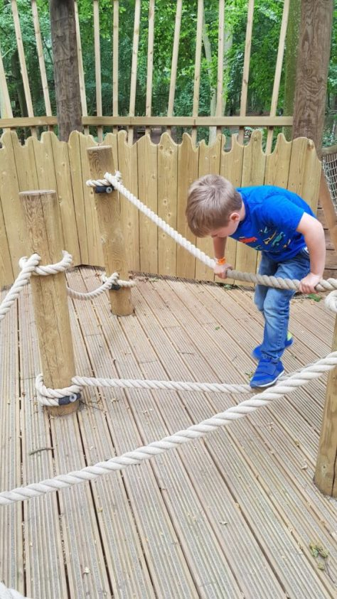 Climbing fun at BeWILDerwood