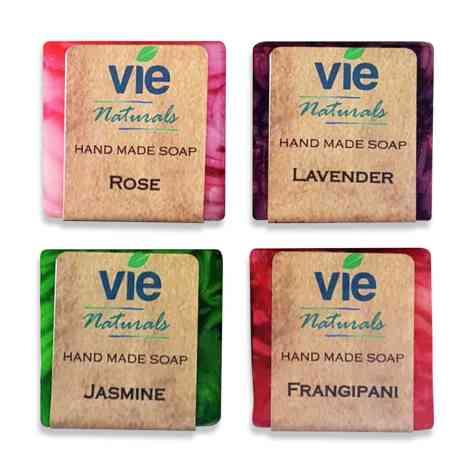 4x50g Vie Naturals Hand Made Soap Main Image 2