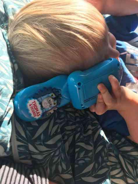 Boy on the phone