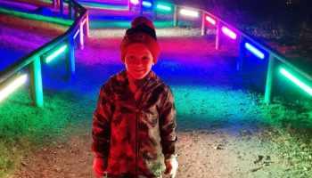 Winter lights bluestone