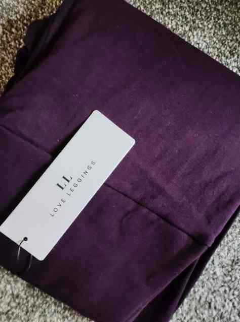 High Waisted Acai Purple Love Leggings