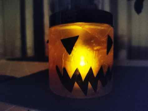 Halloween Craft Pumpkin tealight