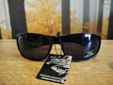 simple black wraparound sunglasses