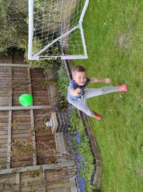 Boys throws juggleezz ball