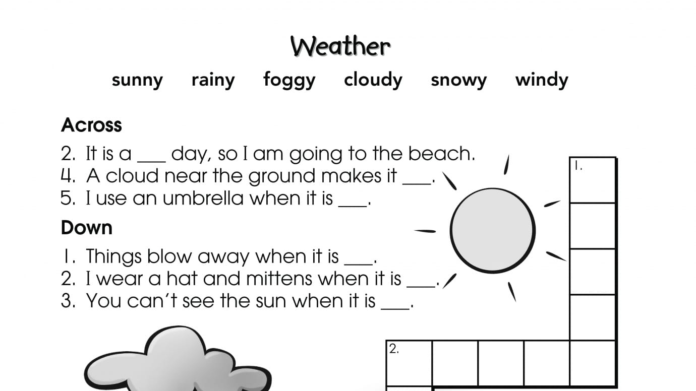 small resolution of Crossword Puzzle Weather   Anywhere Teacher