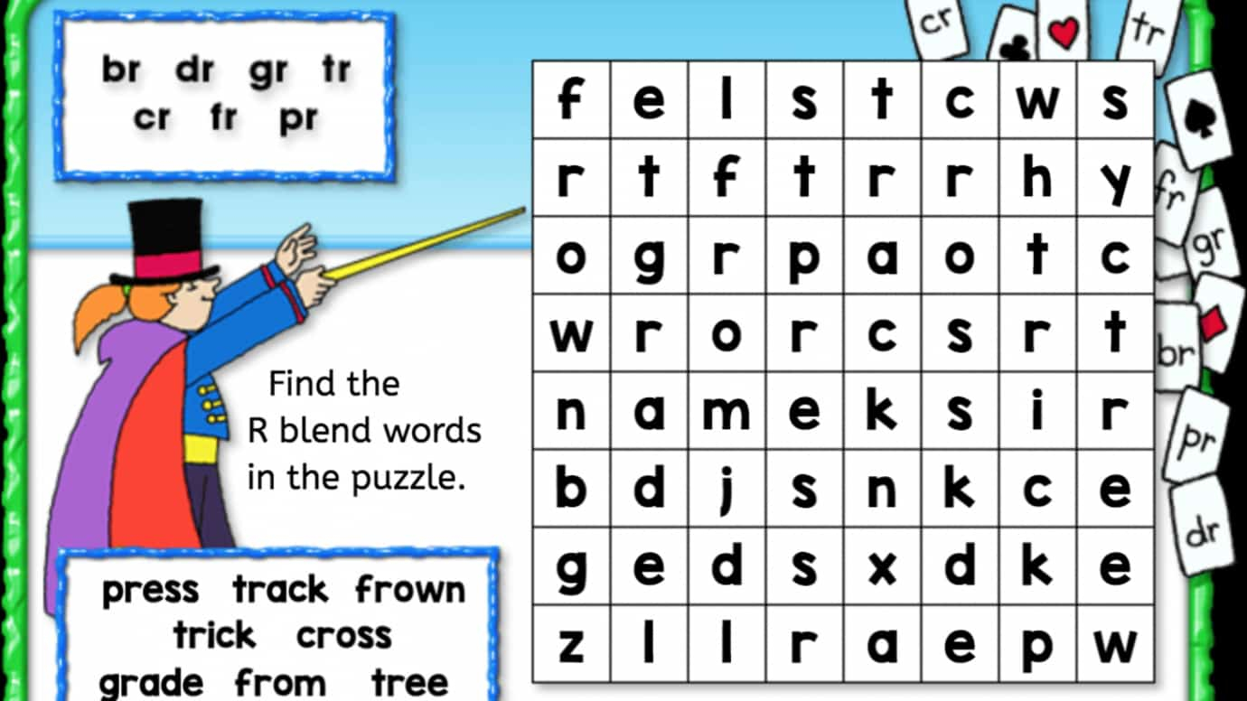Word Search: 'R' Blend   Anywhere Teacher [ 776 x 1380 Pixel ]