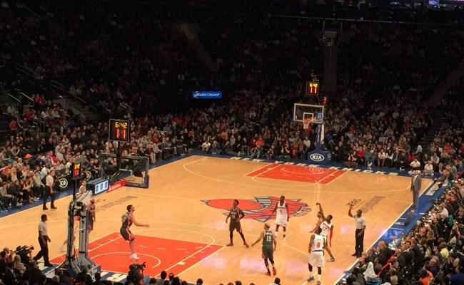 New York Knicks Versus Milwaukee Bucks Basketball Game At