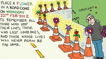 Quake-flower-in-roadcone-ilustration--Henry-Sunderland