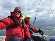 Sailing across Pegasus Bay